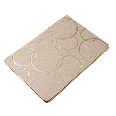 iPad Luxury Slim Circular Embossed Flipstand Leather Case