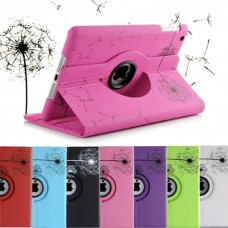 iPad Dandelion Painted Rotatable Leather Case