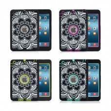 iPad Floral Laser Carving Shockproof Silicone Case