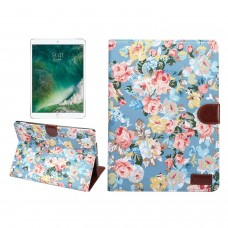 iPad Luxury Floral Paint w/Sleep Flipstand Leather Case