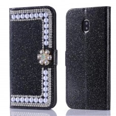 Samsung S6 / S7 Edge Glitter Powder Pearl Leather Wallet Phone Case