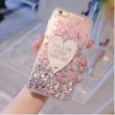 Bling Glitter Liquid Quicksand Phone Case For Iphone 6 6s 5 7 8 iphone X Iphone X / XS Max Plus Cover