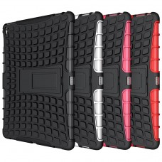 iPad Kick Stand Hard Spider Armor Back  Silicone Case