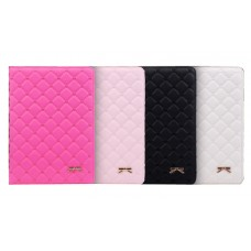 iPad Bowknot Leather Slim w/Sleep Flipstand Case