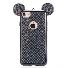 Samsung S6 / S7 Edge Mickey Ear Sequins Glitter Silicone Phone Case