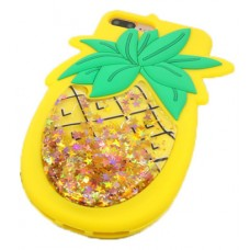 iPhone X 3D Pineapple with Strap Silicone Phone Case