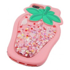 iPhone X 3D Strawberry with Strap Silicone Phone Case