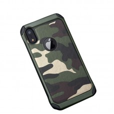 iPhone XS / XS Max Army Camouflage Hybrid Soft Phone Case