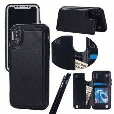 iPhone XS / XS Max Magnetic Wallet Leather Phone Case