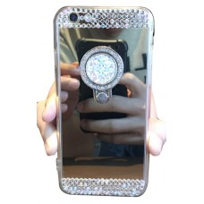 Samsung Galaxy S8 Plus / S9 Plus Plating Mirror Crystal With Ring Phone Case